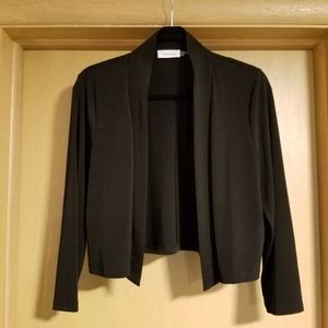 Calvin Klein Bolero Shrug 3/4 Sleeve Black Knit XL